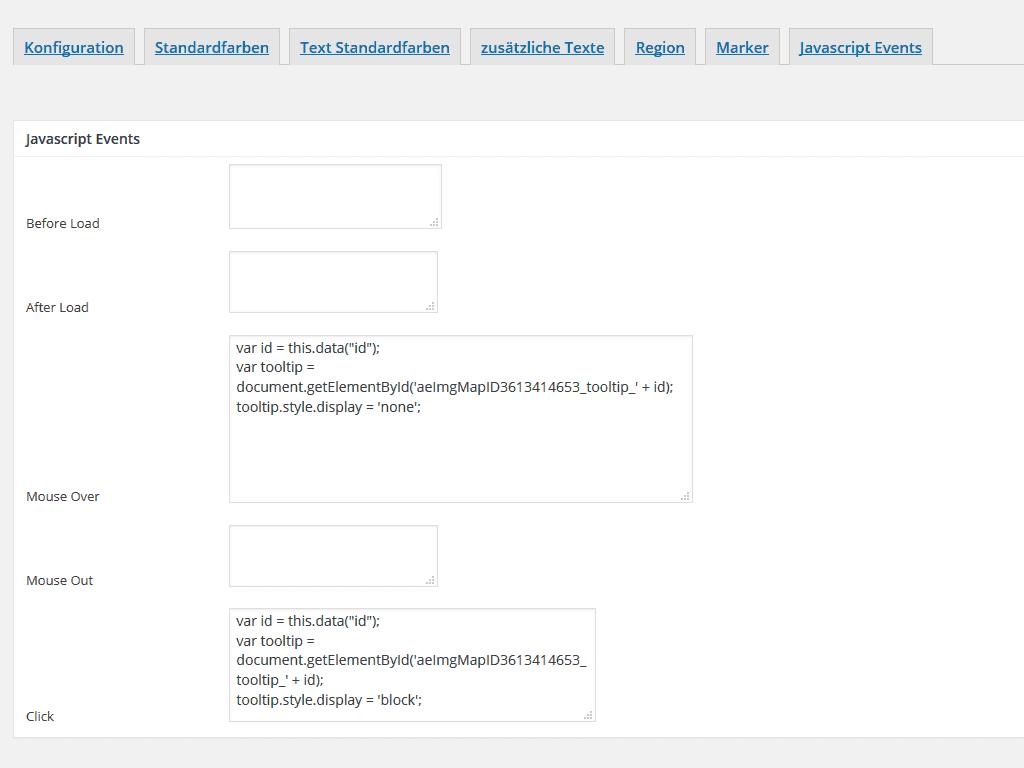 Wordpress zusätzliches JavaScript in die Karte einfügen