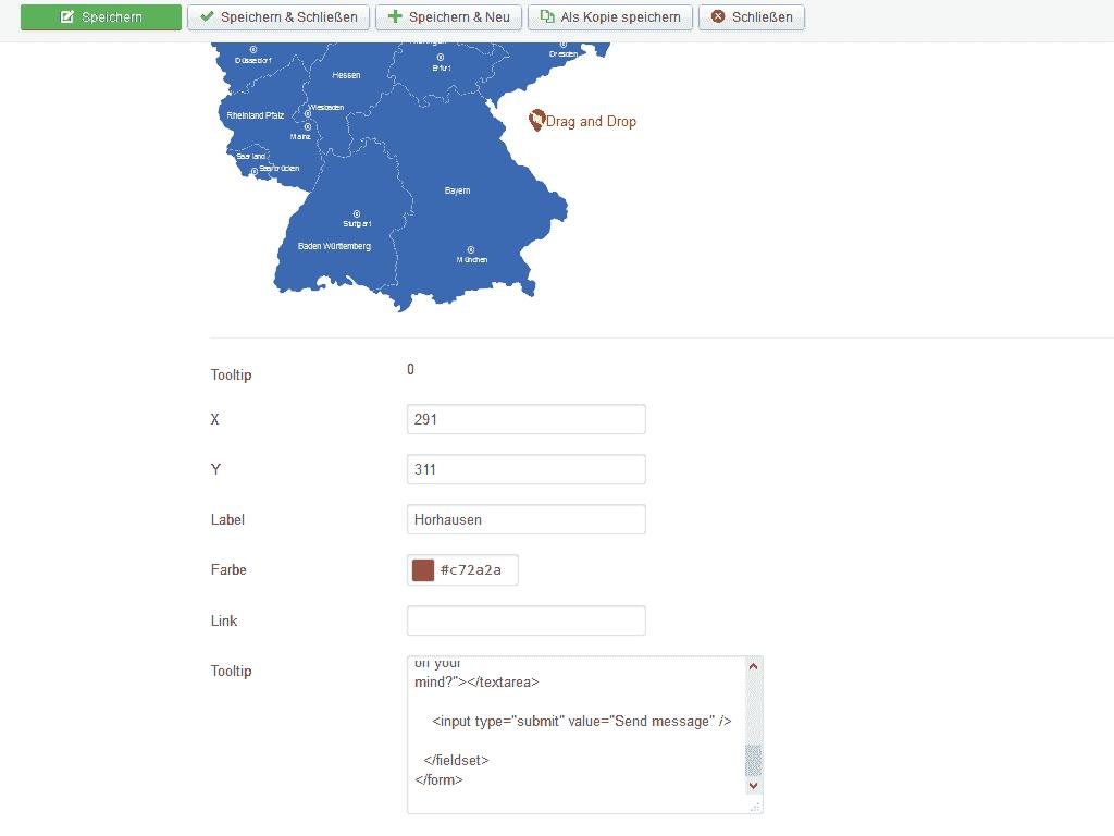 Im Joomla 3 Map Modul Marker erstellen