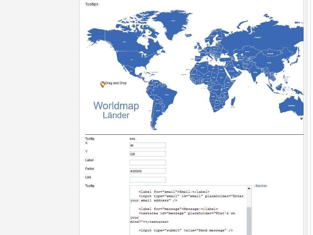 Marker setzen im Joomla 2.5 Map Modul
