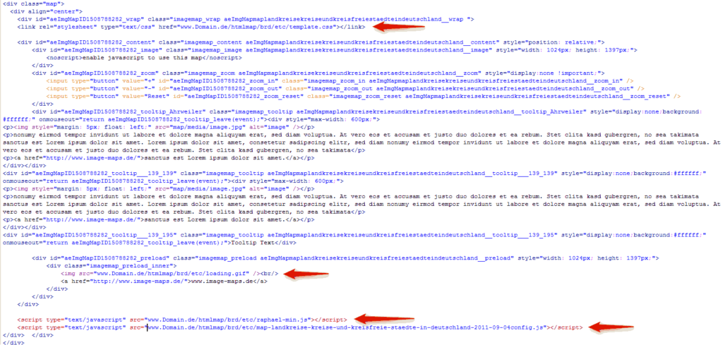 code fertige Karte ohne php