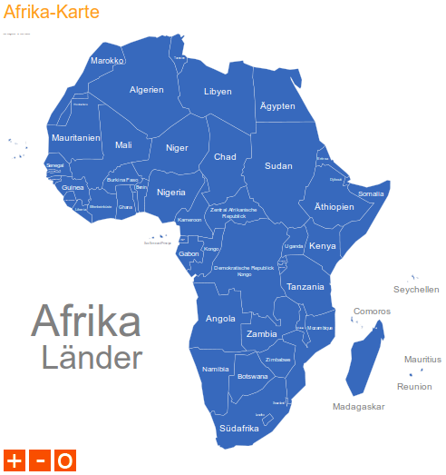 Typo3 Map Extension Beispiel Afrika Karte