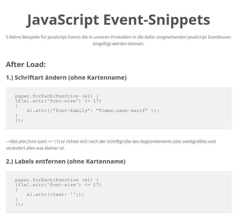 5 kleine Beispiele für JavaScript Events