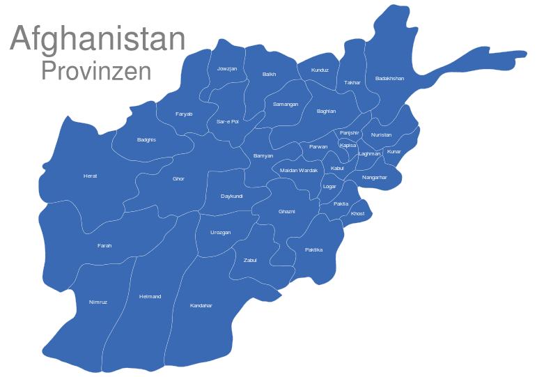 Karte Afghanistan Provinzen.Afghanistan Provinzen
