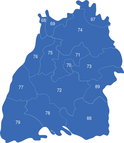 Baden Wurtemberg Plz Interaktive Landkarte Image Maps De