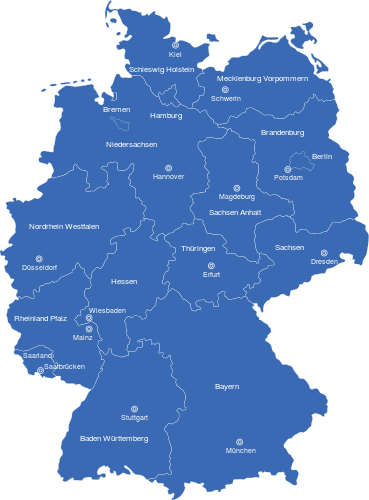 Karte Bundesländer.Deutschlandkarte Bundesländer Hauptstädte