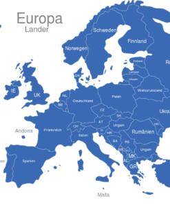 interaktive Landkarte Europa