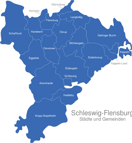 Flensburg Karte.Kreis Schleswig Flensburg