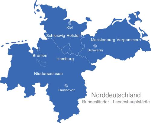 Norddeutschland Karte.Norddeutschland Bundesländer Hauptstädte