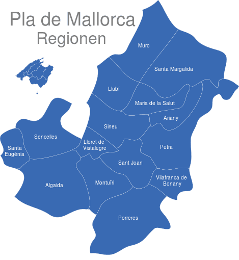 Pla De Mallorca Gemeinden Interaktive Landkarte Image Maps De