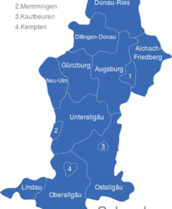 Karte Oberbayern.Oberbayern Landkreise Interaktive Landkarte Image Maps De