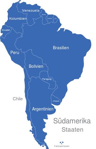 Lateinamerika Karte Länder.Südamerika Länder