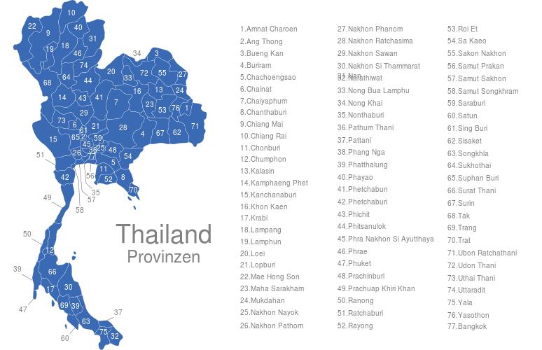 Thailand Provinzen Interaktive Landkarte Image Maps De
