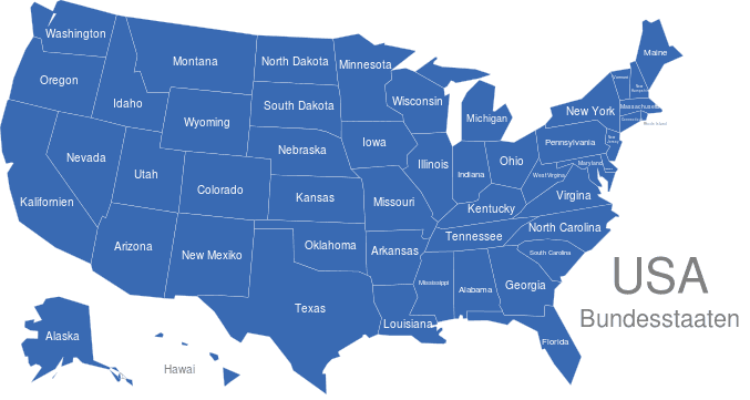 Bundesstaaten Usa Karte.Usa Bundesstaaten