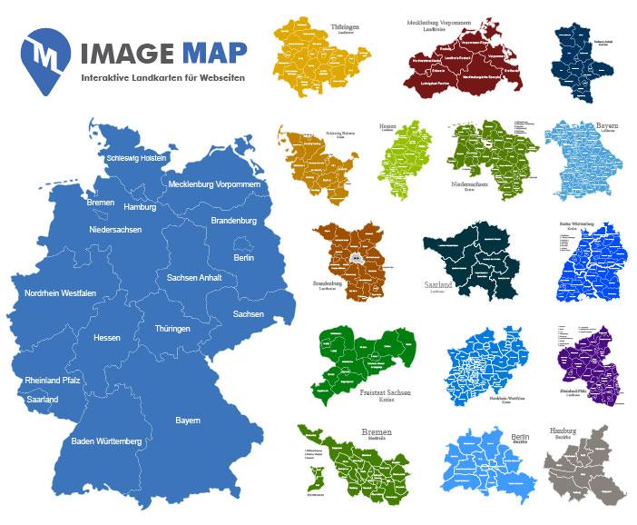 Plz Karte Deutschland Kostenlos Download.Interaktive Landkarte Für Webseiten Image Maps Für Worpdress Co